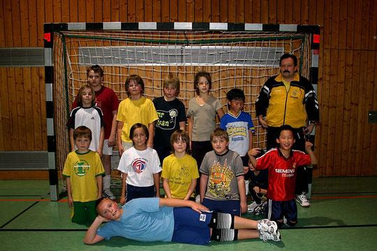 Die männliche D-Jugend 2006/2007 von Trainer Christian Müller.