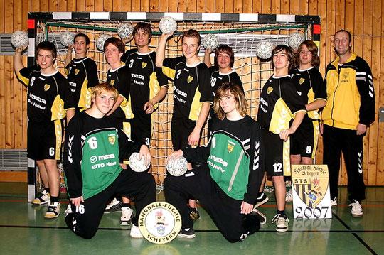 Die männliche A-Jugend 2006/2007 von Trainer Thomas Fleischhauer.