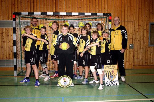 Die männliche C-Jugend 2007/2008 von Trainer Thomas Fleischhauer.