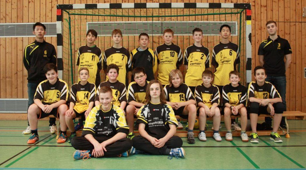 Mannschaftsfoto der männlichen C-Jugend Saison 2016/2017