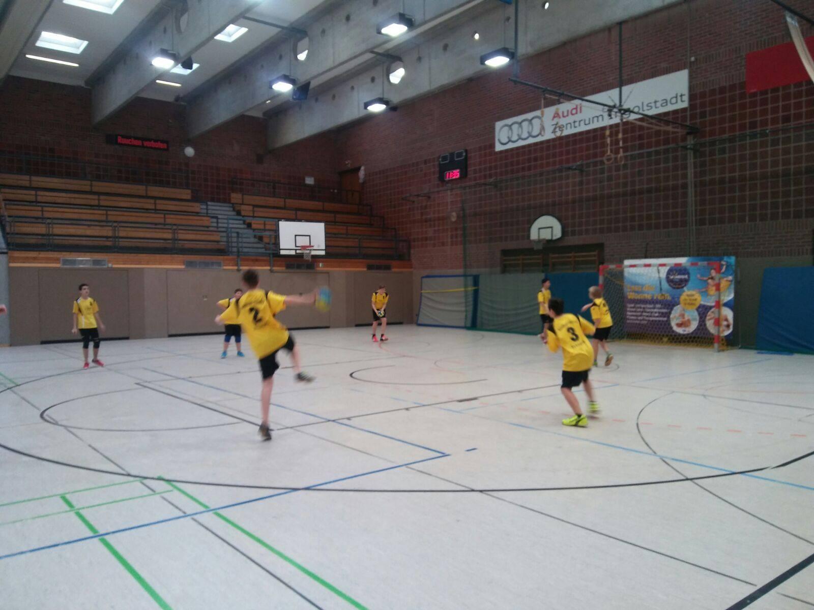 Die Scheyerer C-Jugend beim Auswärtsspiel in Ingolstadt.