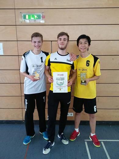 Pascal Altendorf, Patrick Heimbach und Eric Wang