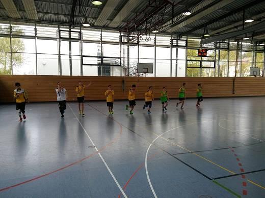 Die männliche C-Jugend der Handball-Füchse Scheyern