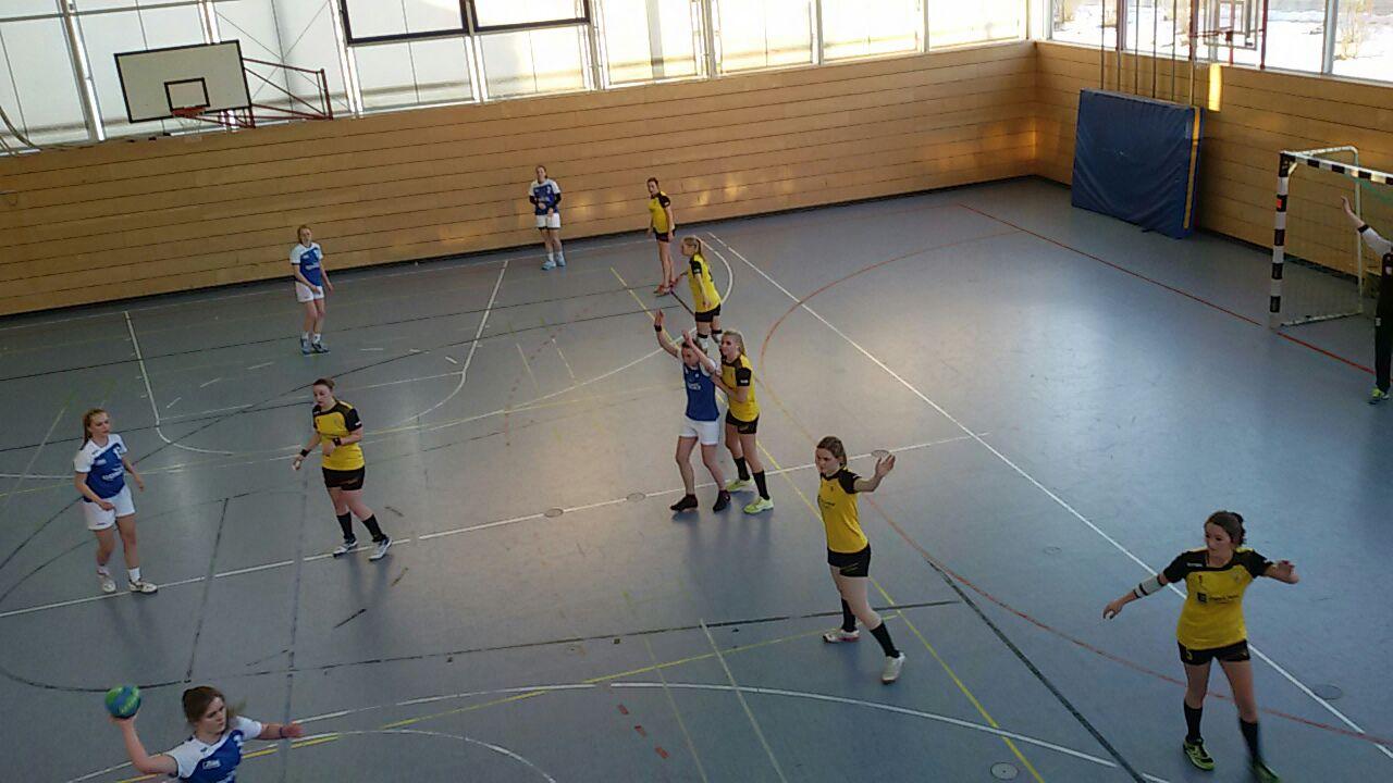 Die Scheyerer Damenmannschaft im Spiel gegen Manching.