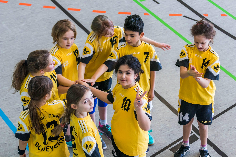 Die E-Jugend beim Spielbetriebsturnier in Rohrbach.