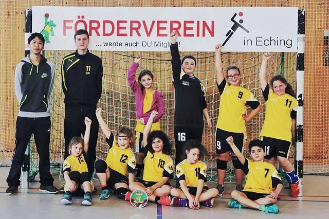 Die überwiegend weibliche E-Jugend in der Saison 2017/2018.