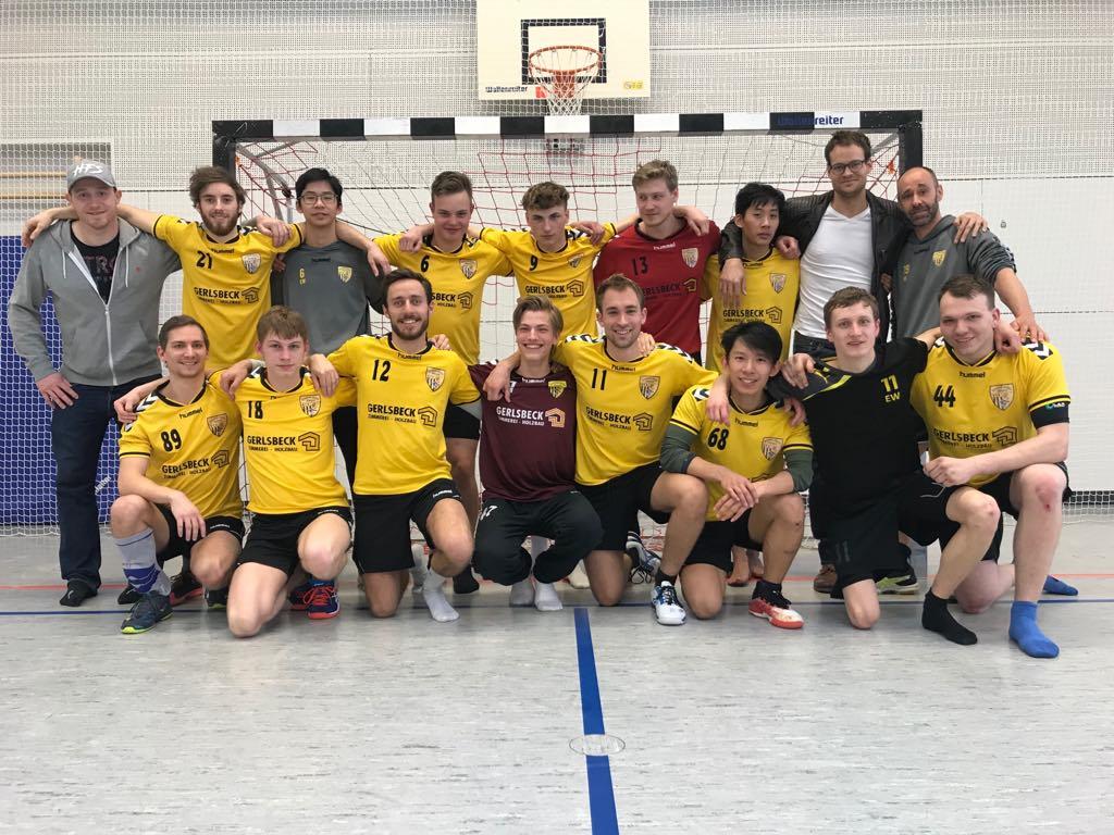 Die Herren der Handball-Füchse Scheyern