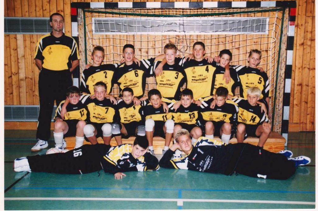 Die männliche C-Jugend der Handball-Füchse in der Saison 2000/2001