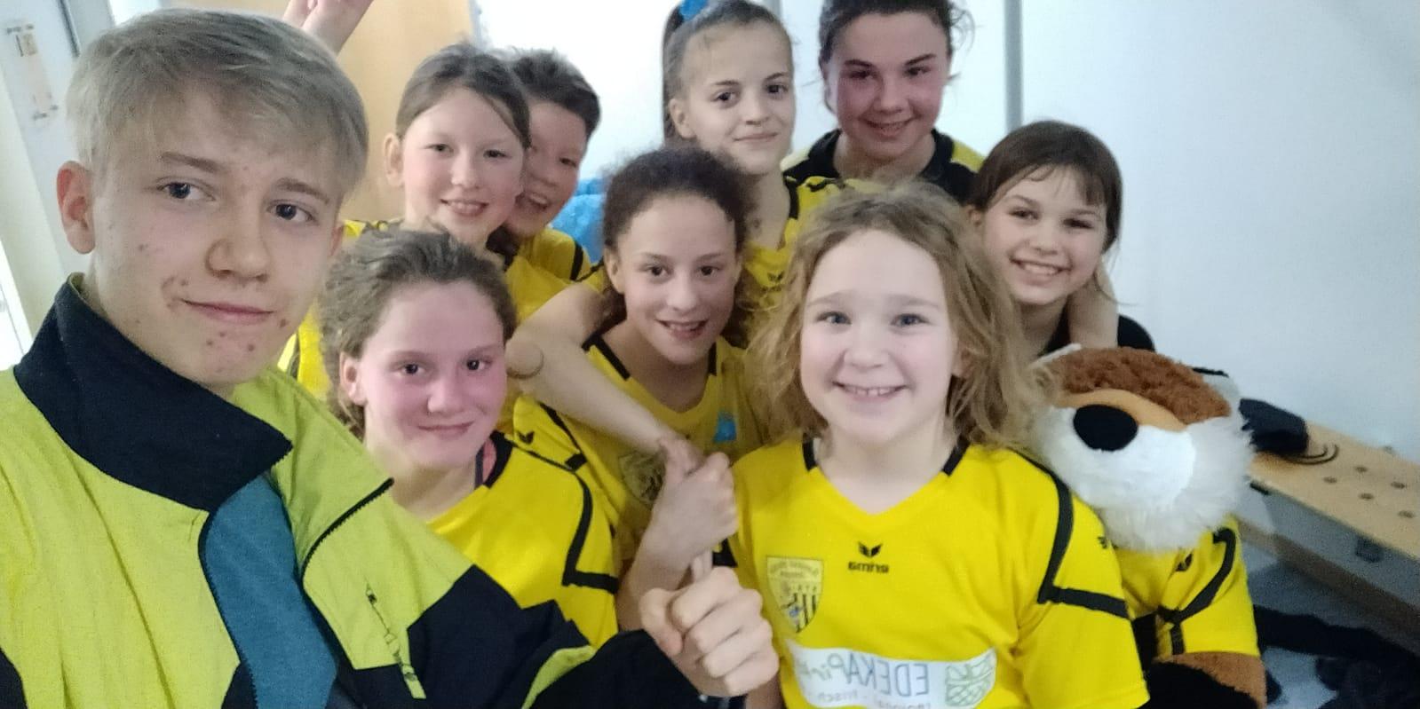 Die weibliche D-Jugend besiegt Dachau 65