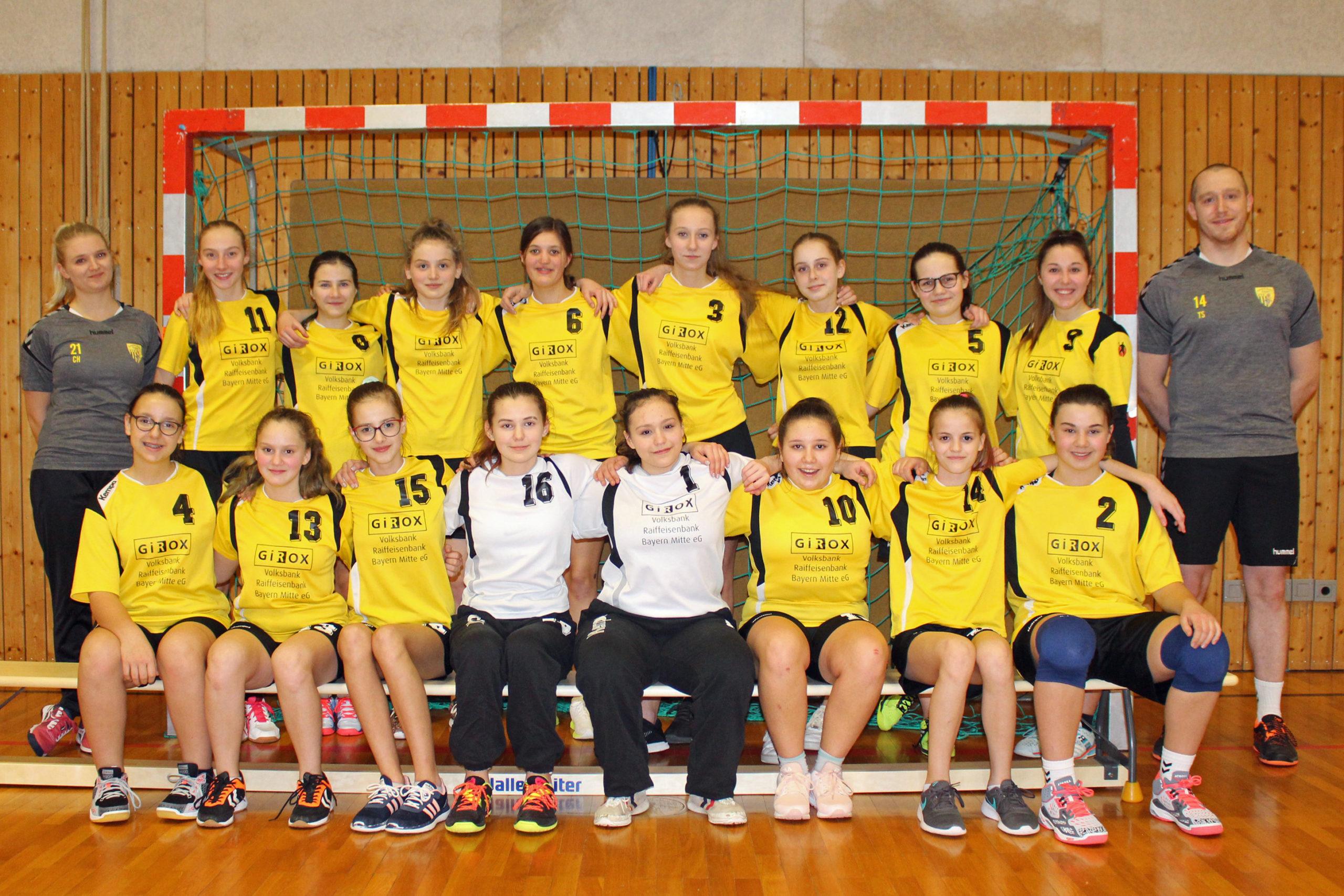 Mannschaftsfoto weibliche B-Jugend Saison 2019-2020