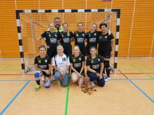 Die Damenmannschaft auf einem Vorbereitungsturnier in Garching