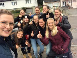 Die HFS-Damen vor dem Spiel gegen die DJK Ingolstadt