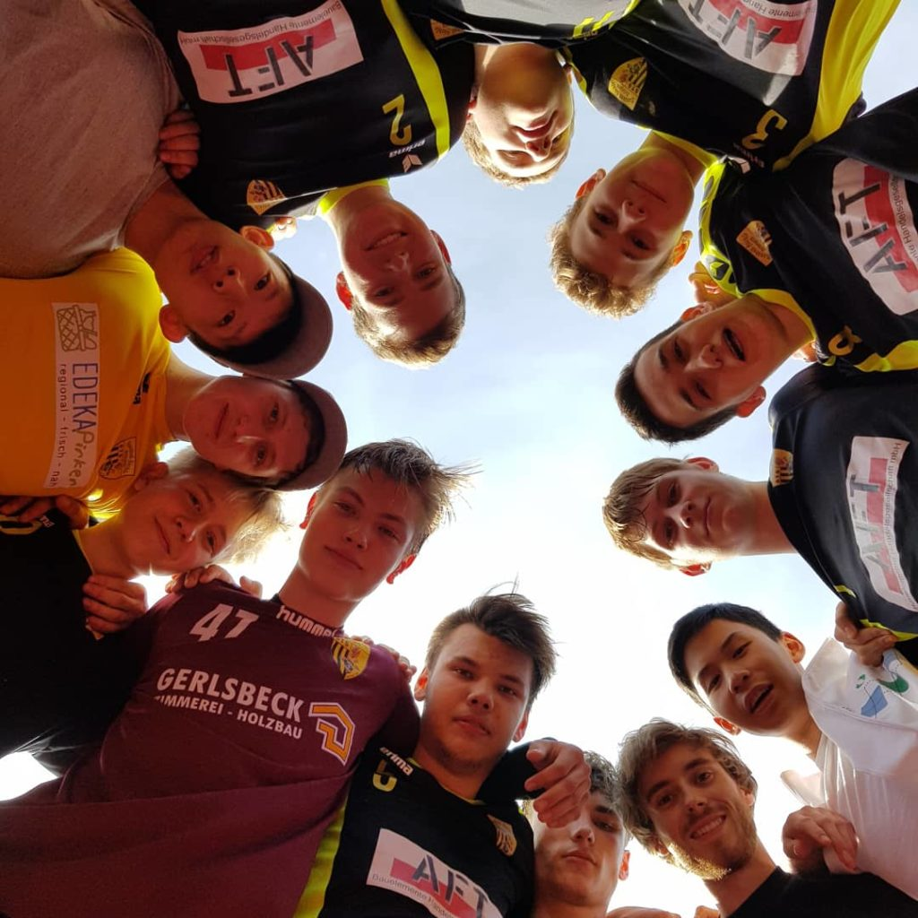 Die männliche A-Jugend der Handball-Füchse Scheyern beim Quali-Turnier in Naaburg.