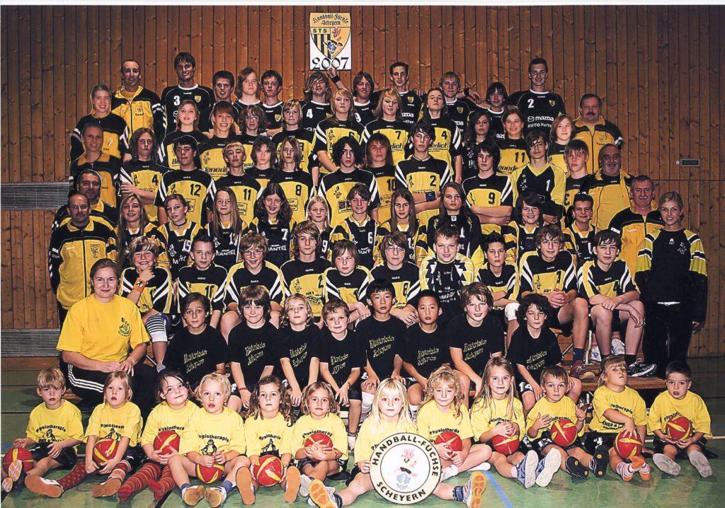 Die Handball-Füchse Scheyern im Jahr 1997