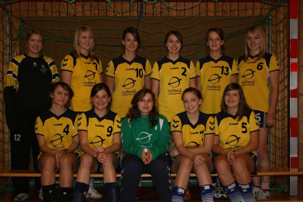 Die weibliche A-Jugend der Saison 2009/2010