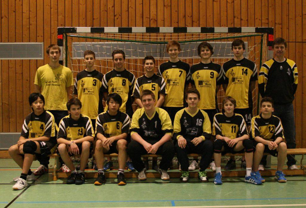 Offizielles Mannschaftsfoto männliche B Saison 2012/2013