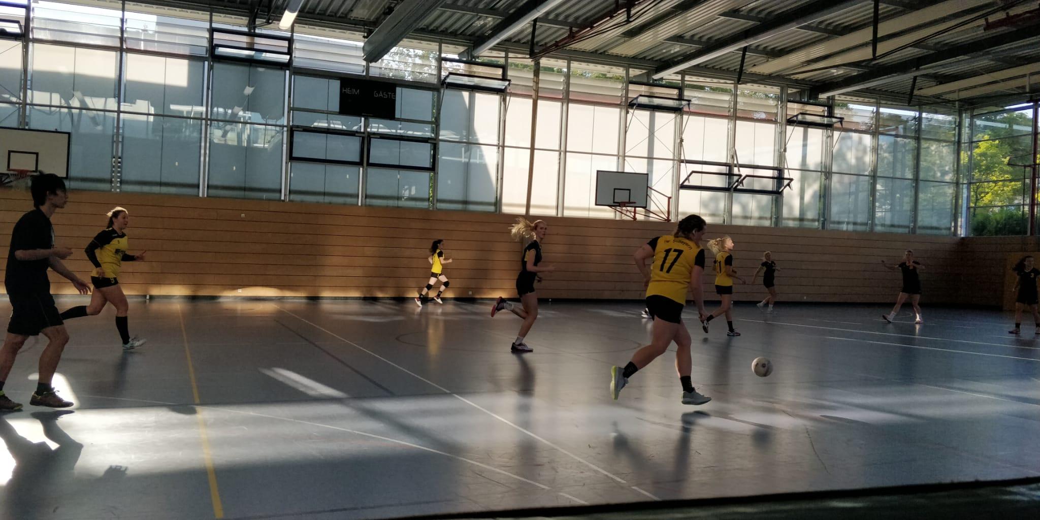 Die Damenmannschaft der Handball-Füchse Scheyern beim Fuchs-Cup
