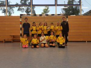 Die weibliche D-Jugend der Handball-Füchse Scheyern beim Fuchs-Cup 2021