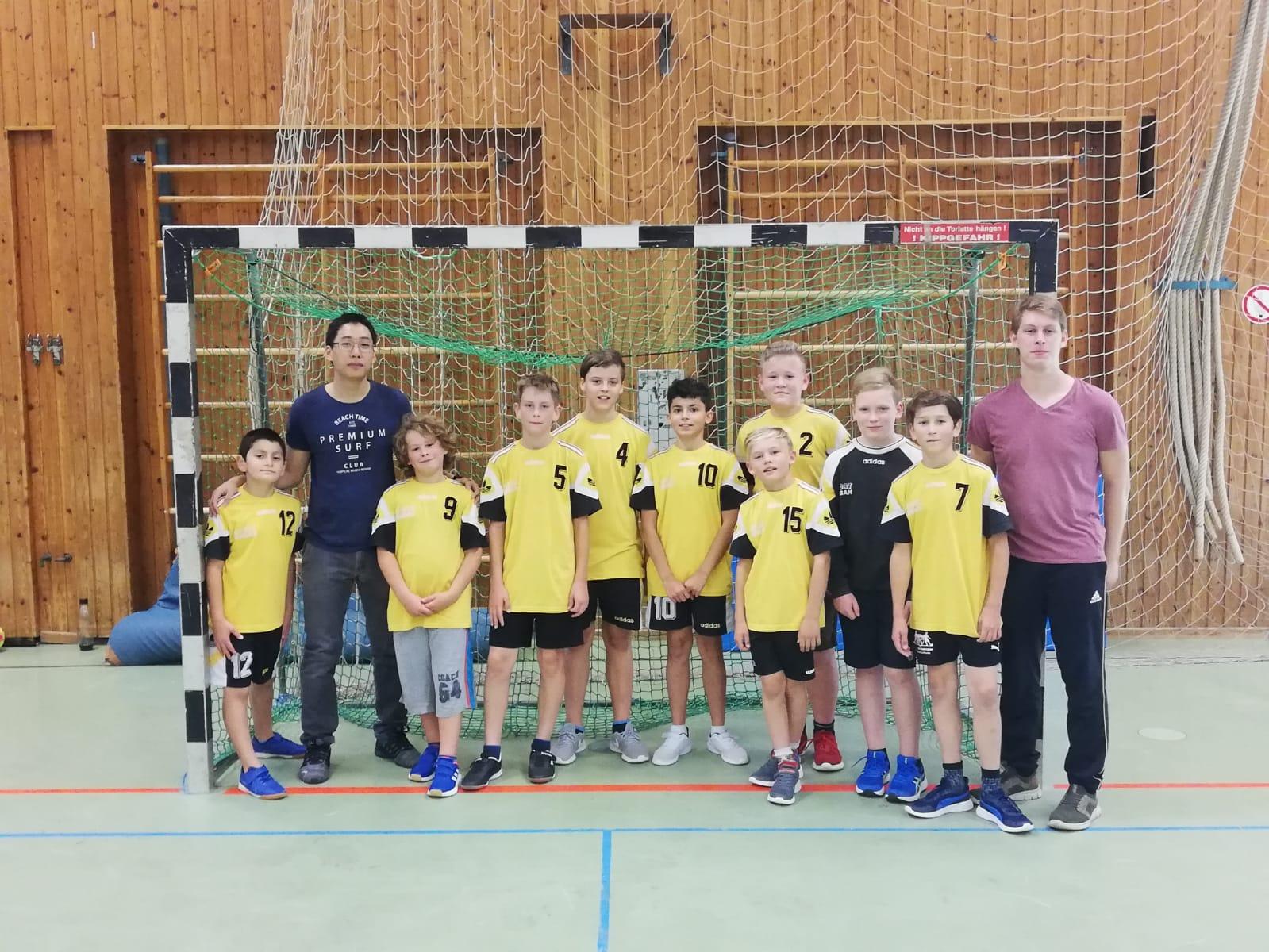 Die männliche D-Jugend der Handball-Füchse Scheyern gewann auswärts beim ASV Dachau II